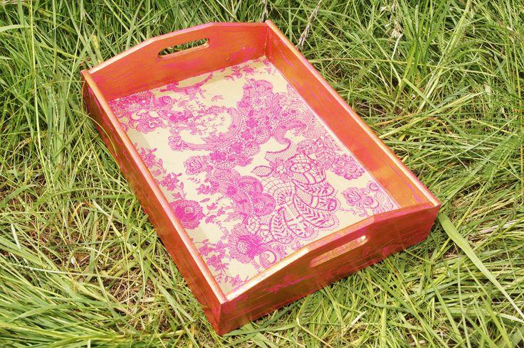 """Tablett """" Barock gold/pink"""""""