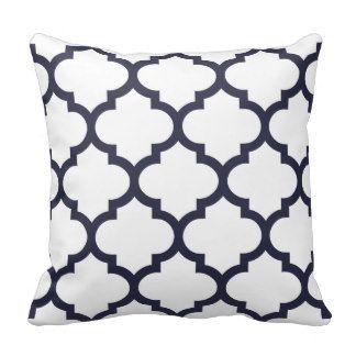 Quatrefoil Pillow - Navy Blue