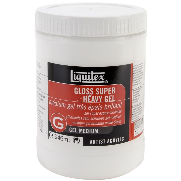 Reeves Liquitex Super Heavy Gloss Acrylic Gel Medium-32oz - 32oz