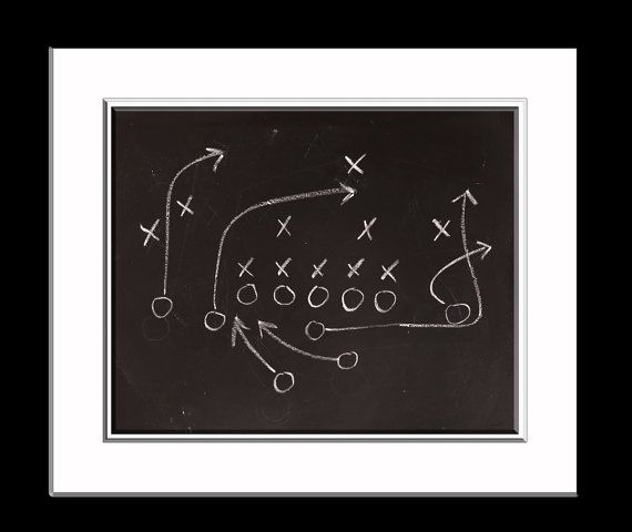 Chalkboard Football Play Photo Print, Boys Room decor, Boys Nursery Ideas, Vintage Sports, Football prints,