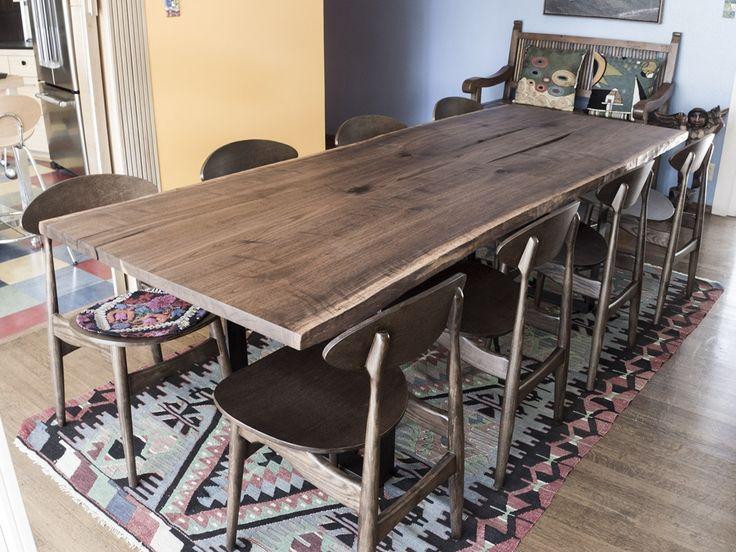 39 best custom slab dining tables images on pinterest