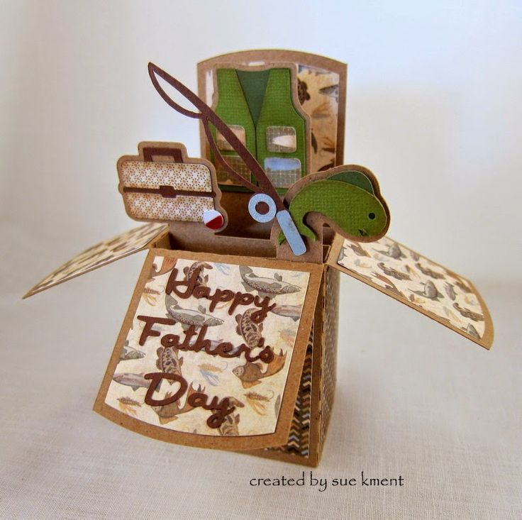 Sue's Stamping Stuff: Father's Day Box Card