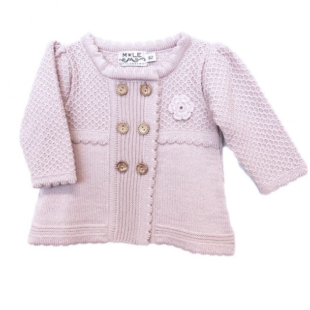Mole Little Norway Vårin Babyjakke/Cardigan Lys Rose
