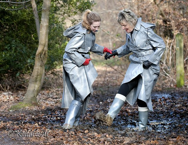 77 Best Images About Raincoat With Rubber Gloves And Girl