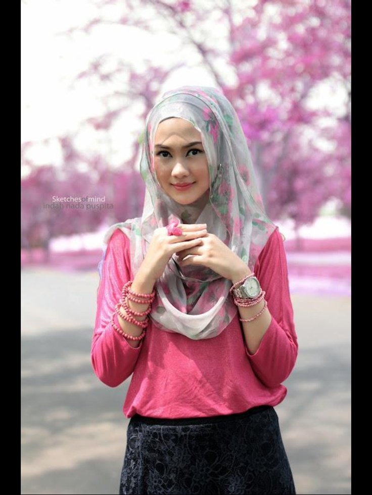 Pink and Floral Hijab Outfit