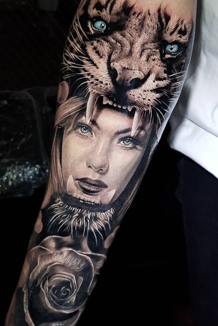 2a90d77343834 Realistic Tattoos with Morphing Effects by Benji Roketlauncha ...