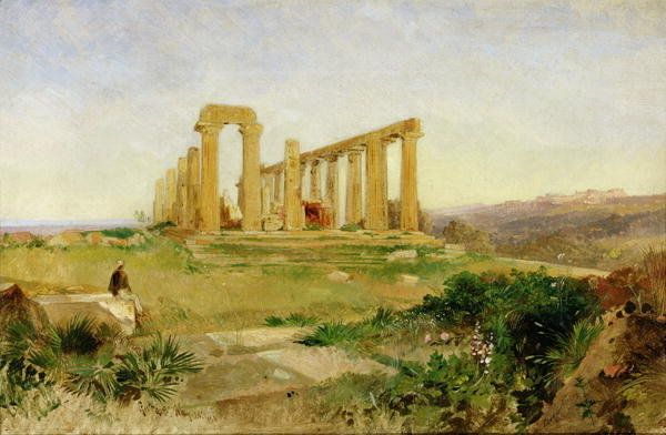 Temple of Agrigento by Edward Lear
