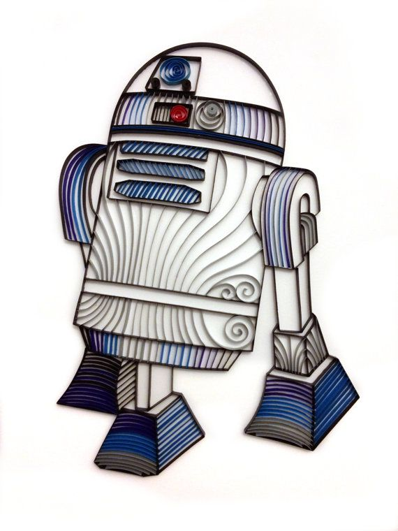Star Wars quilling artQuilled R2D2 by AliaDesign on Etsy