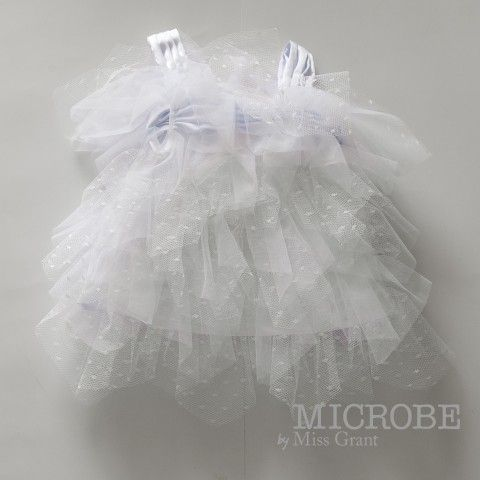 MICROBE by #missgrant DRESS WITH POLKA DOTS TULLE FLOUNCES. Sale 50% off Spring&Summer Collection! #discount