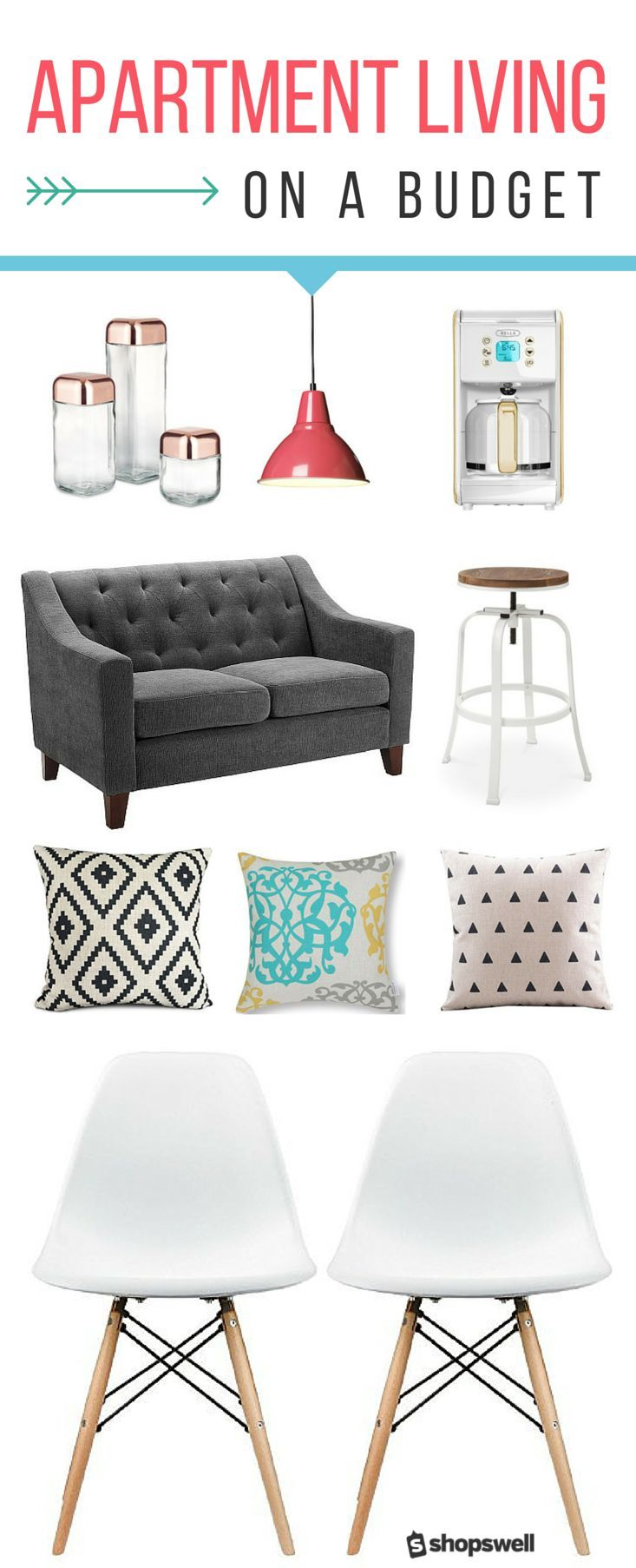 Small space + small budget does not mean settling for boring home decor. Here are our picks for the best furniture and home decor items for apartment living.