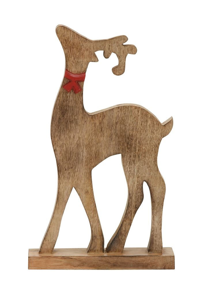 Natural Wood Finish Reindeer | reindeer | Pinterest
