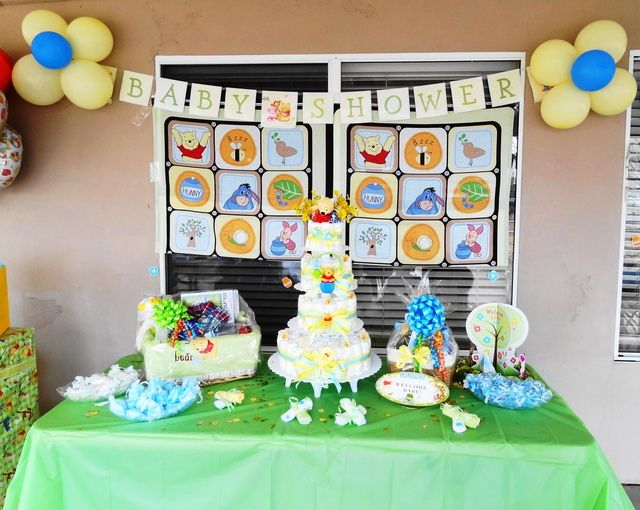 Winnie The Pooh Baby Shower Baby Shower Party Ideas