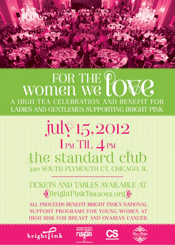 Join @BeBrightPink July 15 at The Standard Club for a High Tea Celebration!