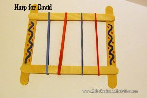 David Plays the Harp Craft for Toddlers