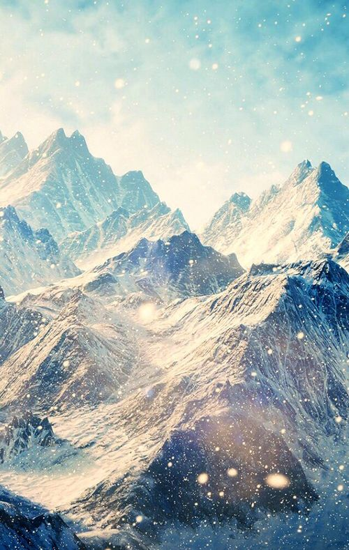 Mountains Glitter Wallpaper Phone Background