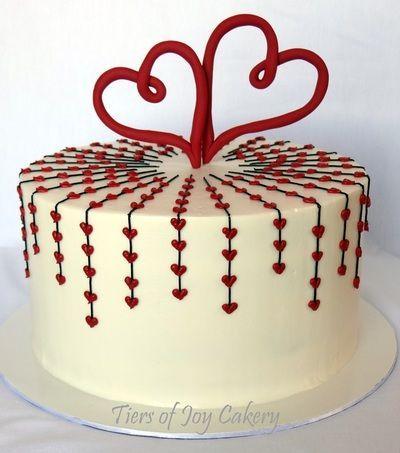 Heart Cake Topper Designs