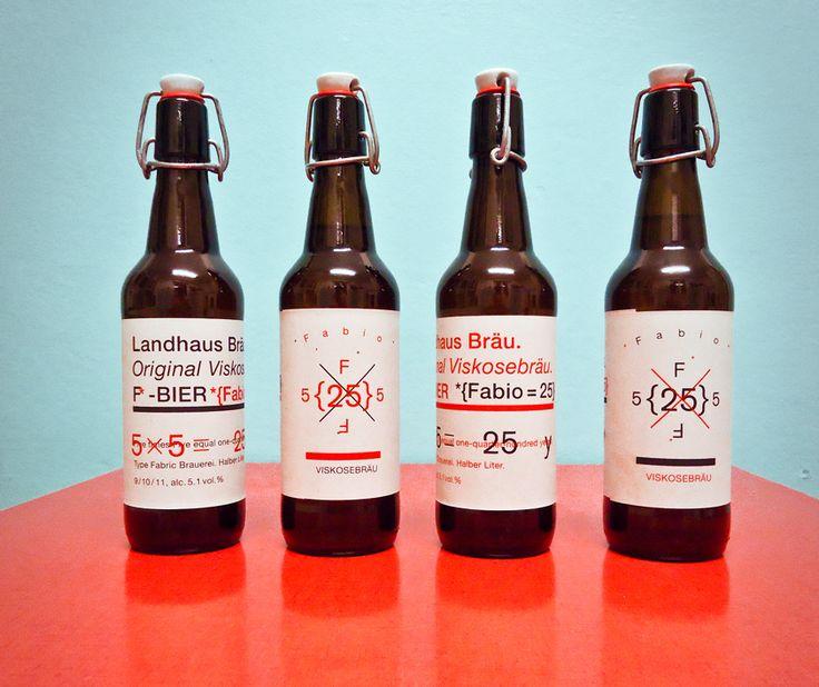Type Fabric – F-Bier / Landhausbräu zum 25. Geburtstag von Fabio Parizzi / Etiketten und Produkte Design. Viskosebräu das Type Fabric Bier aus der Kleinbrauerei Type Fabric.
