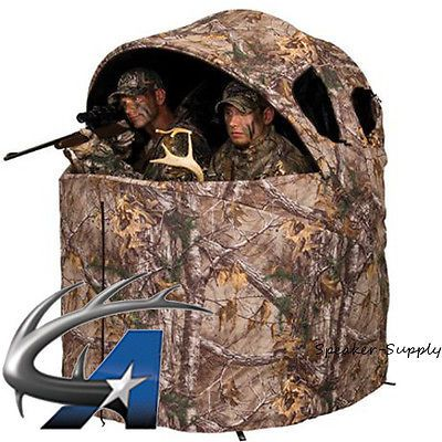 Blinds 177910: Ameristep Deluxe Tent Chair Blind Two Man Hunting Ground Camo Realtree 1Rx2c029 -> BUY IT NOW ONLY: $138.95 on eBay!