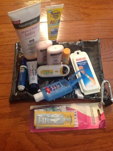 What to pack for Disney World- great idea- maybe use Dollar Tree fabric pencil packs? See-through but sturdy!