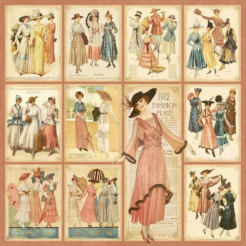 """Fashion Plates"" front page of our new collection A Ladies' Diary! In stores in June #graphic45"