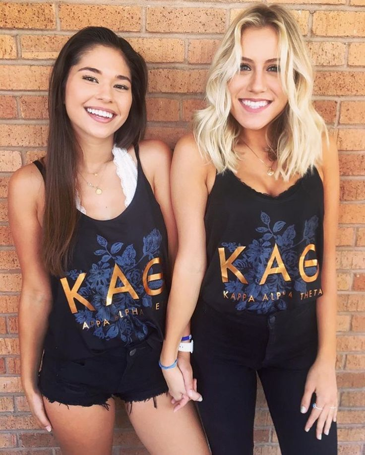 Kappa Alpha Theta rose gold | @aliandariel