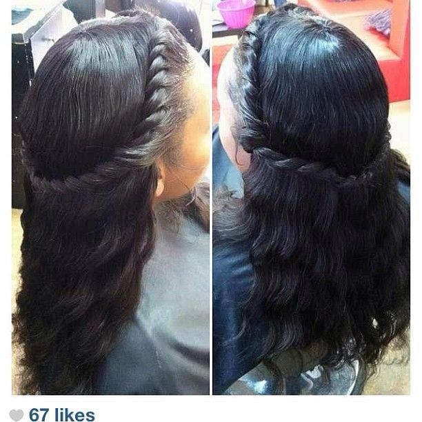 braids in front sew in in back