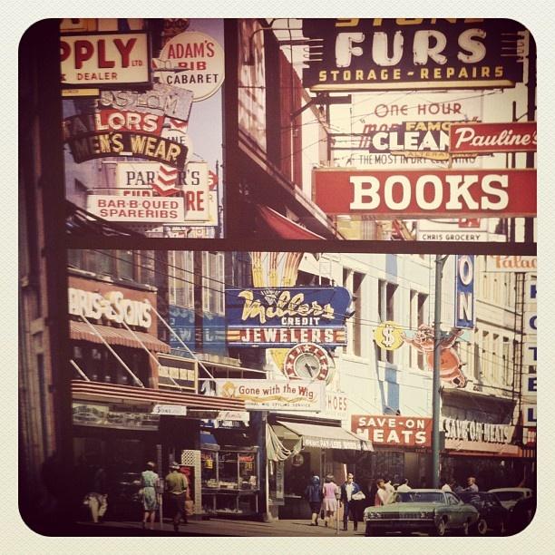 Hastings Street - Downtown #Vancouver - 1960s/1970s  @lyndsaygreenwood on Instagram  www.lyndsaygreenwood.ca