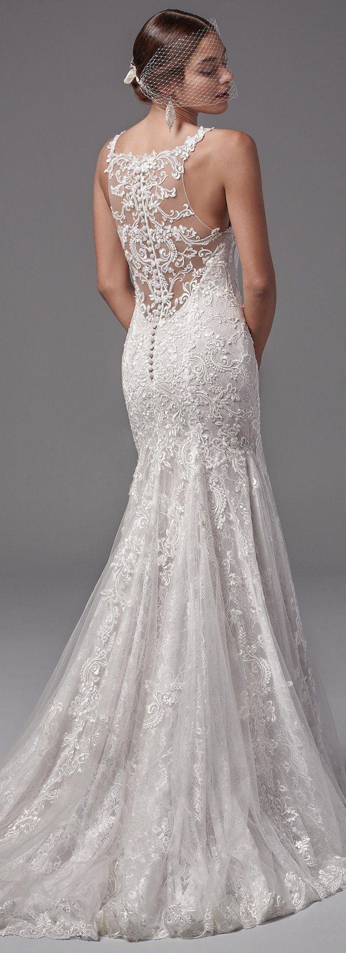 Lace back Sottero and Midgley Wedding Dress | @maggiesottero #sotteroandmidgley #midgleybride