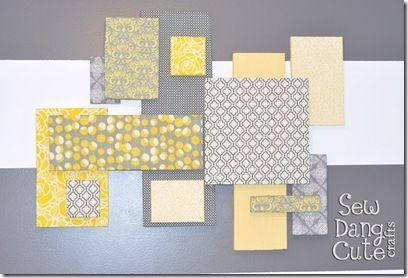 styrofoam, wall art collage, fabric diy