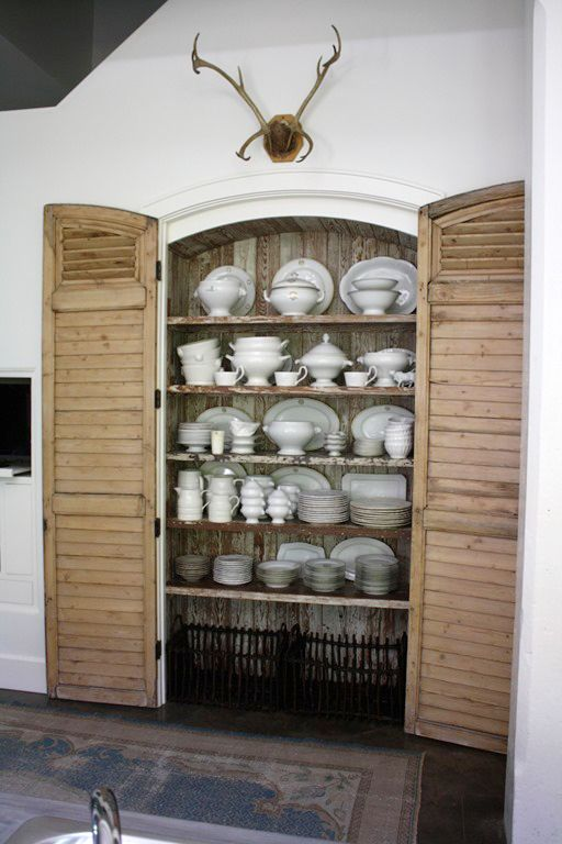 Pantry Doors Using Louvered Shutters Home Decor Kitchen