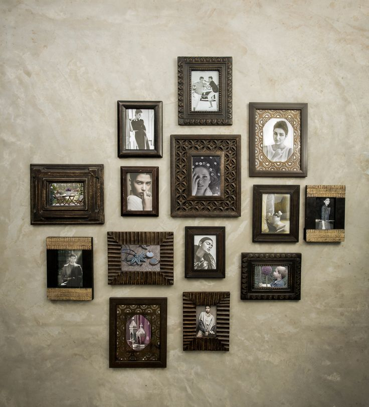Frames Memories Photo Pictures Capture Wall Accents Wood