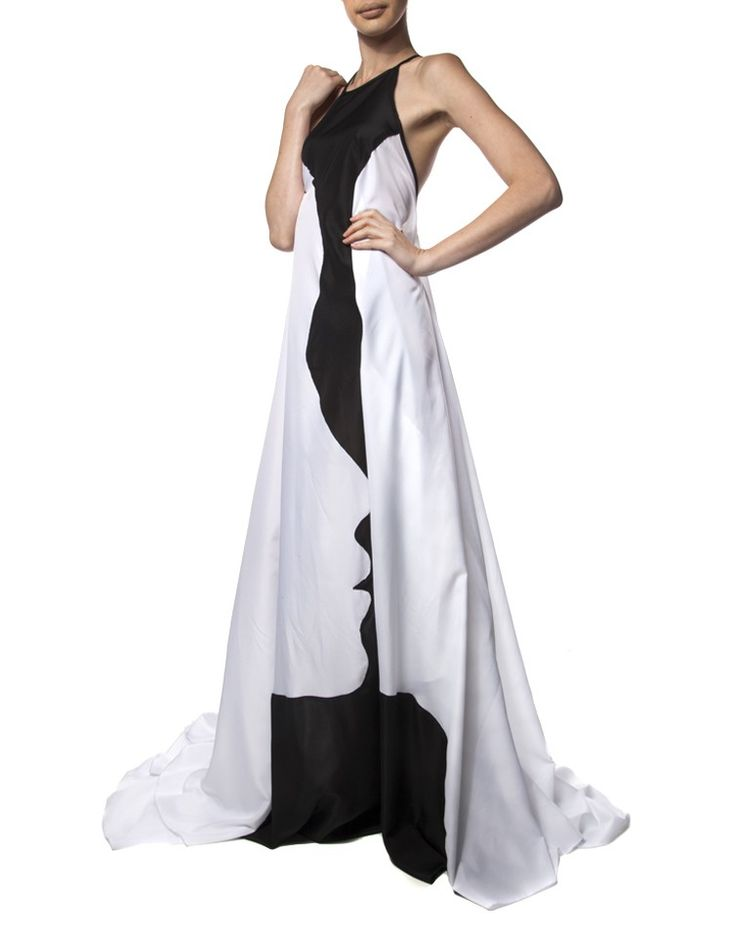 HABITS | Lamp Dress in Black and White - Women - Style36
