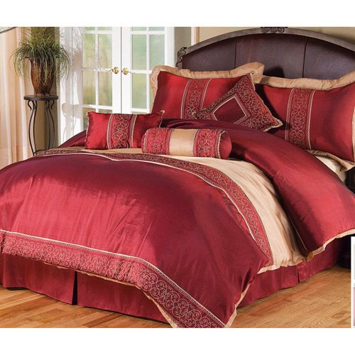 Bedroom Ideas Red And Gold Bedroom Furniture Gold Crystal Bedroom Ceiling Lights Bedroom Ideas Green: This Comforter Set For The New Bedroom.