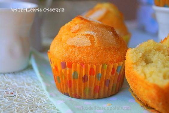 La vraie recette traditionnelle des madeleines espagnoles Magdalenas caseras au citron ultra me moelleuses, savoureuses et facile à préparer