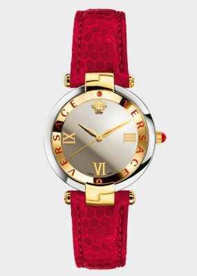 Versace RÊVIVE RED WATCH for Women | Versace Online