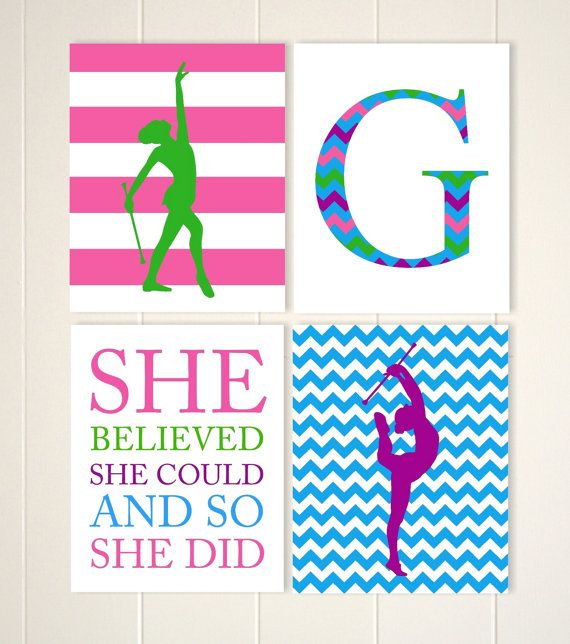 Baton twirling wall art girls wall art by PicabooArtStudio on Etsy