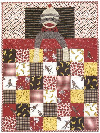 14 best Sock Monkey images on Pinterest   Sock monkeys, Baby ... : monkey baby quilt pattern - Adamdwight.com