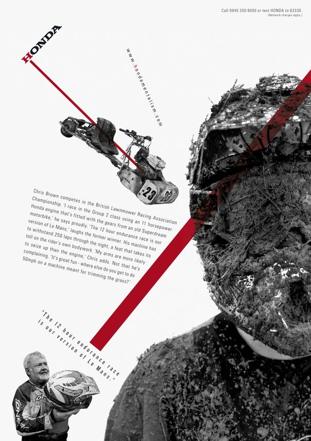 Bauhaus / Constructivism style ads Honda, 'Hondamentalism.' Advertising agency: Wieden+Kennedy.