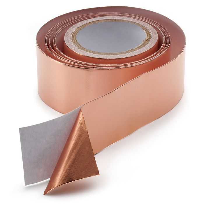 OMG! I HAVE TO GET THIS STUFF!!!! copper tape: find at the hardware store. It's intended to keep snails and slugs out of raised garden beds. But I see crafty things in its future...