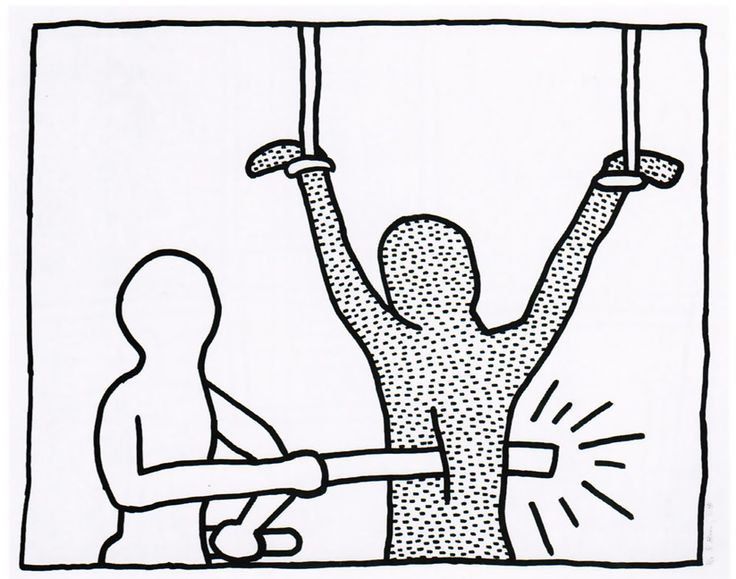 Keith Haring, 'The Blueprint drawings #7', 1990