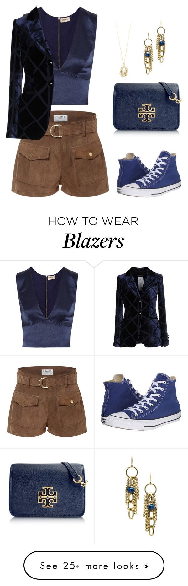 """WarmWeatherWear"" by lynne-farrell on Polyvore featuring Frame Denim, L'Agence, Janna Conner Designs, Emporio Armani, Tory Burch, Converse and Loquet"