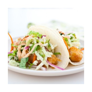 fish-tacos with YUM YUM sauce: use frozen breaded fish, siracha ...