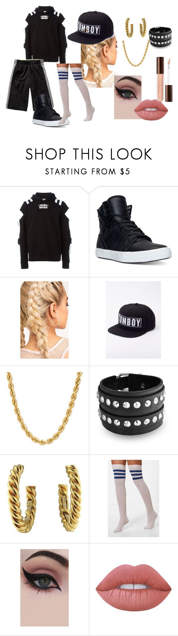 """No More Dream - Areum's Outfit"" by huntress-rose ❤ liked on Polyvore featuring Hood by Air, Old Navy, Supra, Wildfang, Bling Jewelry, David Webb, Boohoo, Concrete Minerals and Lime Crime"