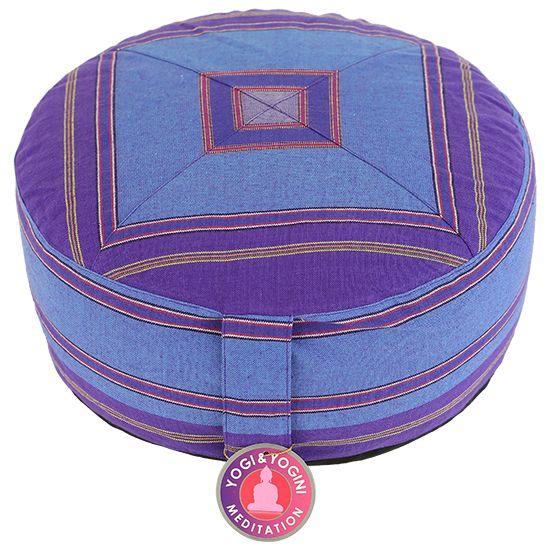 Meditatiekussen paars/blauw patroon - 33x17 cm - Webshop