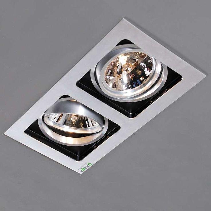 Luxe aluminium design inbouwspot met high tech uitstraling. .