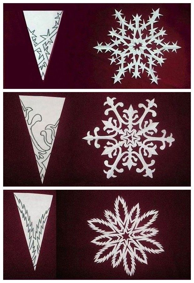 how to cut round paper snowflakes