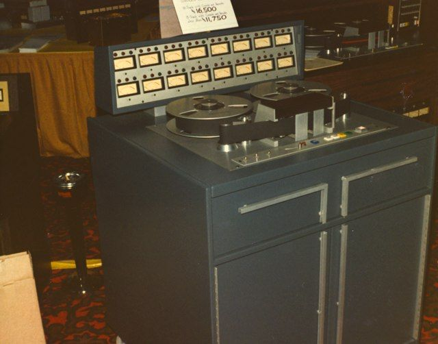 MCI JH-16 16 track Tape Machine, shown at the Audio Engineering Society Convention in 1971.