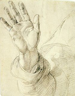 RAPHAEL  Upraised Right Hand with Palm Facing Outward (1518-20)