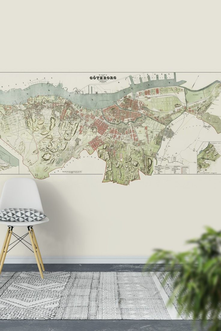 33 best map wall murals images on pinterest murals wall murals gothenburg map wall mural wallpaper gumiabroncs Gallery