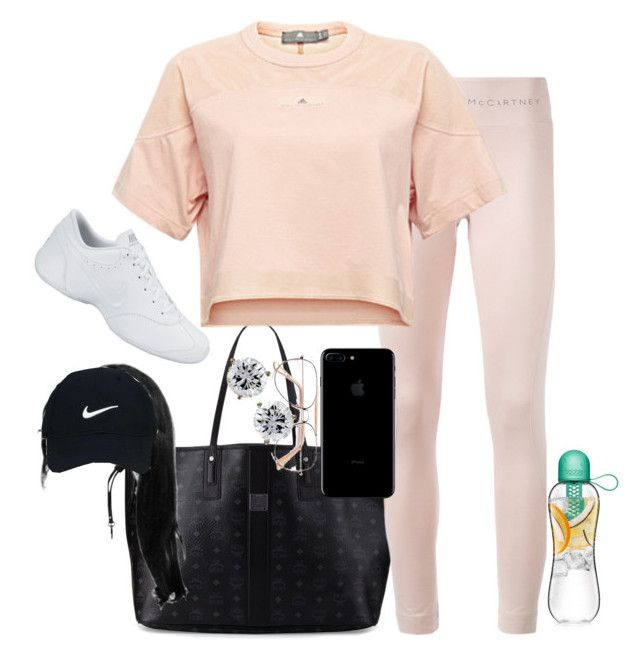 """Gym time💪✨"" by shaniaa093 on Polyvore featuring MCM, adidas, Nike Golf and NIKE"